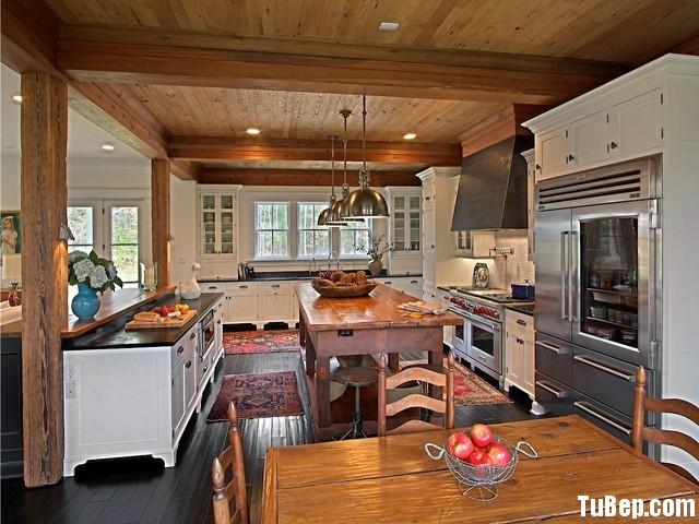 32d3c5218b38.jpg Tủ bếp gỗ Sồi sơn men trắng chữ U có bàn đảo TVT0551