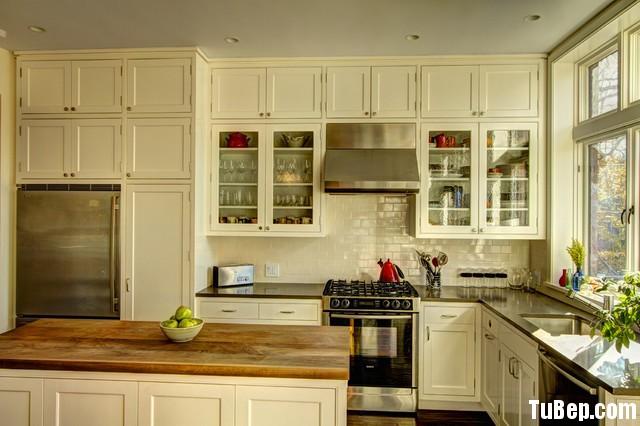 1279455997112.jpg Tủ bếp gỗ Sồi tự nhiên sơn men màu trắng chữ L có đảo TVT0579