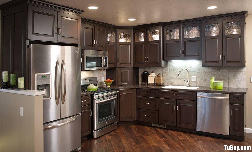875d2a01cd Tủ bếp gỗ tự nhiên Sồi sơn men,chữ L – TVB 1095