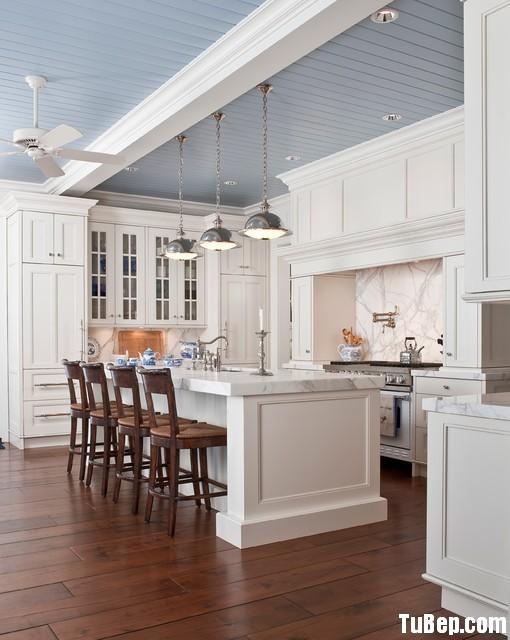 59fa3c8e015.jpg Tủ bếp gỗ Sồi tự nhiên sơn men trắng chữ L có đảo – TVB1002