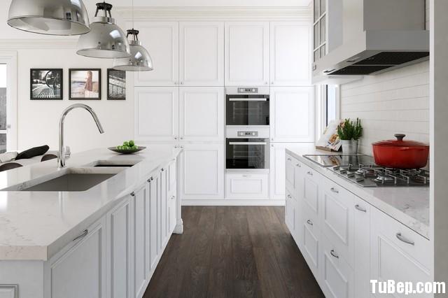 2fc60d5dd883.jpg Tủ bếp gỗ Sồi tự nhiên sơn men trắng hình chữ I có đảo TVT0536