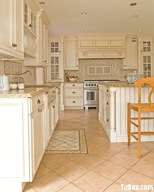 b1c2f545c1 Tủ bếp gỗ tần bì sơn men trắng, chữ L, có bàn đảo – TVB 1140