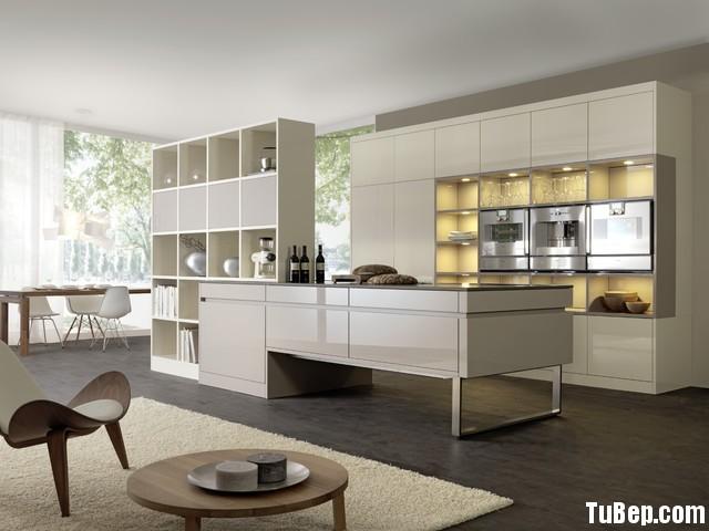 70f7c4069a162.jpg Tủ bếp gỗ Acrylic hình chữ I màu trắng ngà có đảo TVT0574