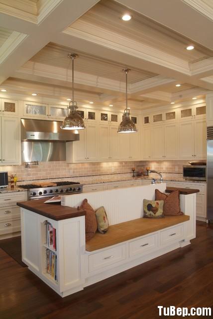 edb9dc80c2 Tủ bếp gỗ Sồi Mỹ sơn men trắng, chữ L – TVB 1068