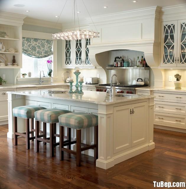 1f50d4e9d1143.jpg Tủ bếp gỗ Sồi sơn men trắng có đảo – TVB1075