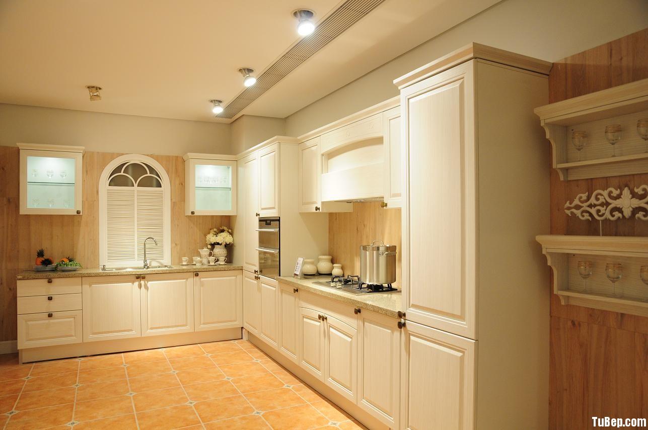 ee1d6ba371 Tủ bếp gỗ Sồi sơn men trắng, chữ L – TVB 1060