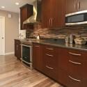 Tủ bếp gỗ MDF Verneer Căm xe– TVB347