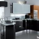 Tủ bếp Laminate kết hợp Acrylic   TVB714