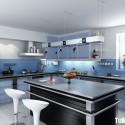 Tủ bếp gỗ Laminate có bàn đảo    – TVB407