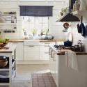 Tủ bếp gỗ Xoan Đào sơn men trắng chữ I   TVB763