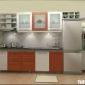 Tủ bếp gỗ MDF Acrylic – TVB523