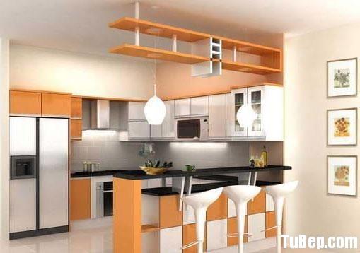 33606ca406nate L.jpg Tủ bếp gỗ Laminate chữ L màu trắng phối vân gỗ – TVB 1192