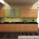 Tủ bếp gỗ Laminate chữ L màu vân gỗ   TVB0948