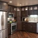 Tủ bếp gỗ sồi sơn men chữ L   TVB0999