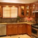 Tủ bếp gỗ xoan đào – TVB522