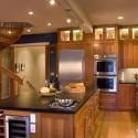 Tủ bếp gỗ xoan đào – TVB597