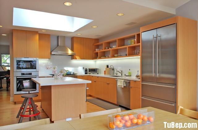 b55696a100ep 138.jpg Tủ bếp gỗ Laminate hình chữ L màu vân gỗ nhạt có đảo TVT0667