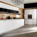 Tủ bếp gỗ Acrylic màu trắng chữ I   TVB0945