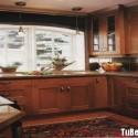 Tủ bếp gỗ tự nhiên Căm Xe – TVB396
