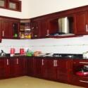 Tủ bếp gỗ Căm – Xe TVB437