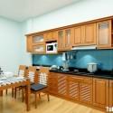 Tủ bếp gỗ Dổi chữ I   TVB0876