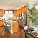 Tủ bếp gỗ tự nhiên + công nghiệp – TVN1186