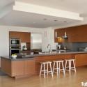 Tủ bếp Laminate chữ L có bàn đảo   TVB0980