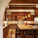 Tủ bếp gỗ tự nhiên chữ L sang trọng – TVB686