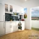 Tủ bếp Acrylic dạng chữ I, màu trắng   TVB1126