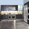 Tủ bếp Laminate chữ U có bàn đảo   TVB0860