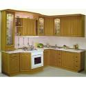 Tủ bếp gỗ tự nhiên Sồi Nga – TVB492