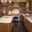 Tủ bếp gỗ tự nhiên Sồi Mỹ – TVB343