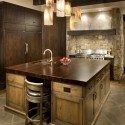 Nội thất Tủ Bếp   Tủ bếp gỗ tự nhiên – TVN377