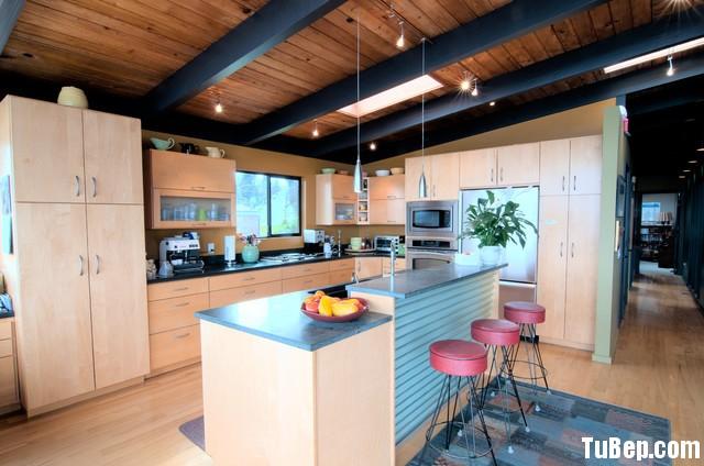 49696d93ebep 1731.jpg1 Tủ bếp gỗ Laminate màu vân gỗ nhạt hình chữ L có đảo TVT0726