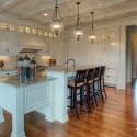 Tủ bếp gỗ tự nhiên sơn men trắng   TVB748