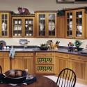 Tủ bếp gỗ tự nhiên Xoan đào kết hợp bàn đảo– TVB353