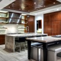 Tủ bếp gỗ tự nhiên + công nghiệp – TVN1187