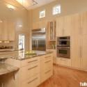 Tủ bếp gỗ công nghiệp Lamiate có hệ bàn đảo   TVB1230