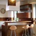 Tủ bếp laminate có đảo   TVB816