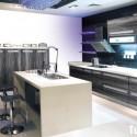 Tủ bếp gỗ Melaminate có bàn đảo    – TVB406
