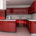Tủ bếp Acrylic màu đỏ, chữ G   TVB 1172