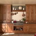Tủ bếp gỗ tự nhiên  công nghiệp – TVN1039