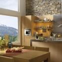 Tủ bếp gỗ tự nhiên chữ I   TVB736