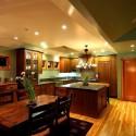 Tủ bếp gỗ xoan đào   TVB0904