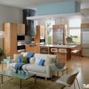 Tủ bếp gỗ công nghiệp – TVN746