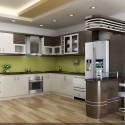 Tủ bếp Laminate chữ L  TVB0883