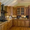 tủ bếp gỗ Xoan đào chữ L   TVB 1047