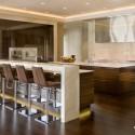Tủ bếp gỗ MDF Laminte có bàn bar   TVB257