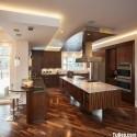 Tủ bếp gỗ tự nhiên + công nghiệp – TVN1135