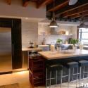 Tủ bếp gỗ Acrylic có đảo   TVB812